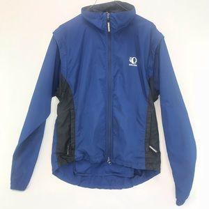 Pearl Izumi Zephyr Blue Nylon Cycling Jacket L